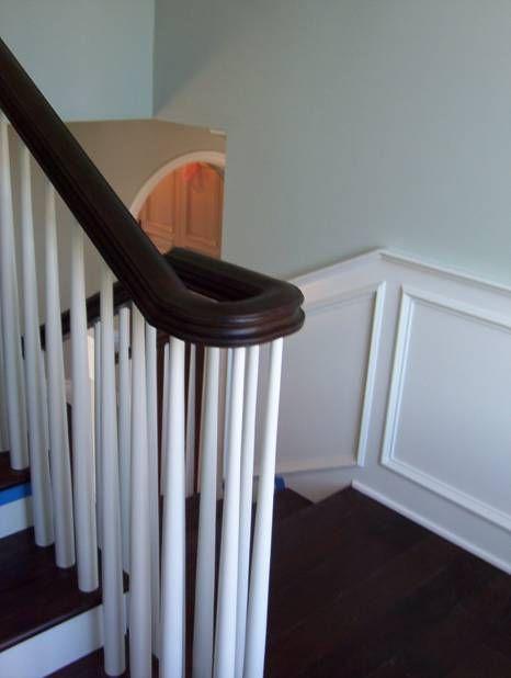 180 Degree Turn Handrail Staircase Remodel Hardwood Floors