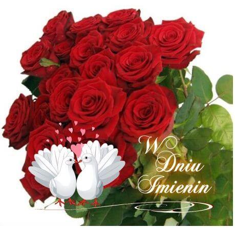 Kartka Pod Tytulem W Dniu Imienin Flowers Rose Plants