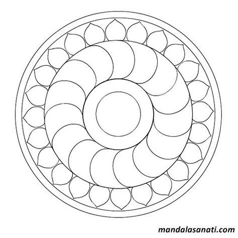 Okul Oncesi Mandala Boyama Sayili Motifler Mandala Boyama Sayfalari Mandala Mandala Art