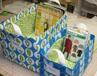 DIY Storage Bins - Free Sewing Patterns!