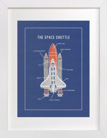 The Space Shuttle Affiliate Sponsored Shuttle Space Sponsored Children S Art Print Art Wall Kids Space Shuttle