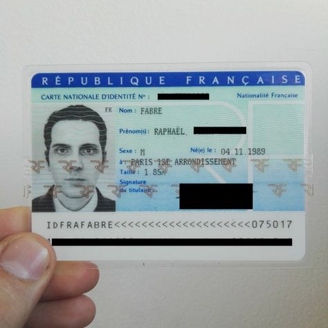 A 3d Mugshot Instead Of A Photo In An Id Card Carte D Identite