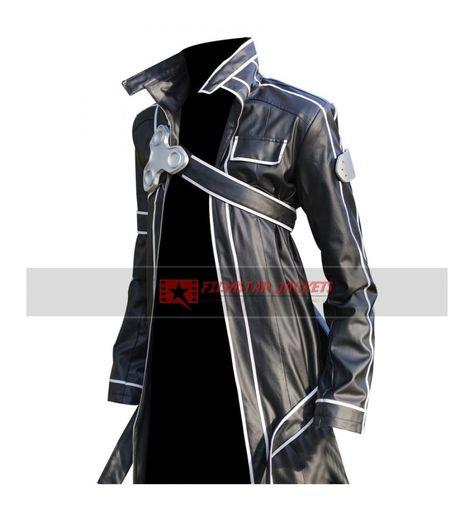 Sword Art Online Kirito Black Jacket Cosplay Costume
