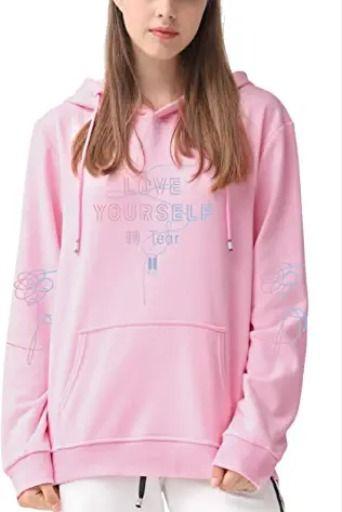 KPOP Rapper Hoodies Love Printed Fashion Sport Hip Hop Sweatshirt Pocket Pullover Tops