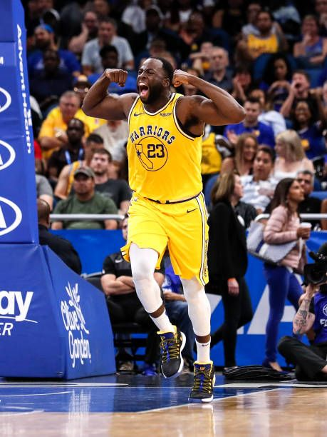 Draymond Green Of The Golden State Warriors Flex His Muscles After A Draymond Green Golden State Warriors Golden State