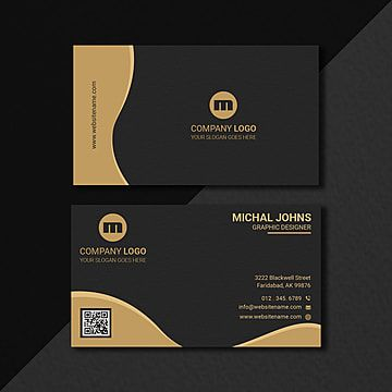 Luxury Business Card Design In Gold Black Business Card Design Luxury Business Cards Elegant Business Cards