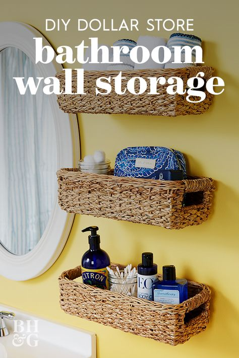Rustic Farmhouse Galvanized Bathroom Space saver Get Naked Wall Sign Wall Basket