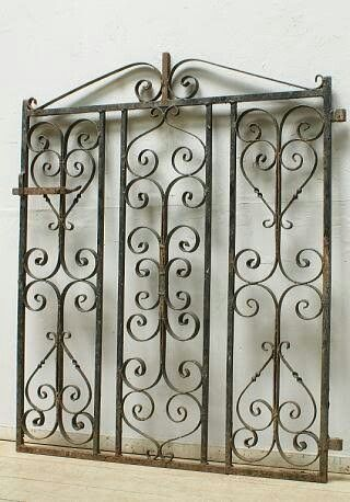 Homedecor Antique Iron Gates Make Lovely Wall Hangings Of Placed Next To Large Wall Like In Entra Window Grill Design Victorian Front Doors Grill Design