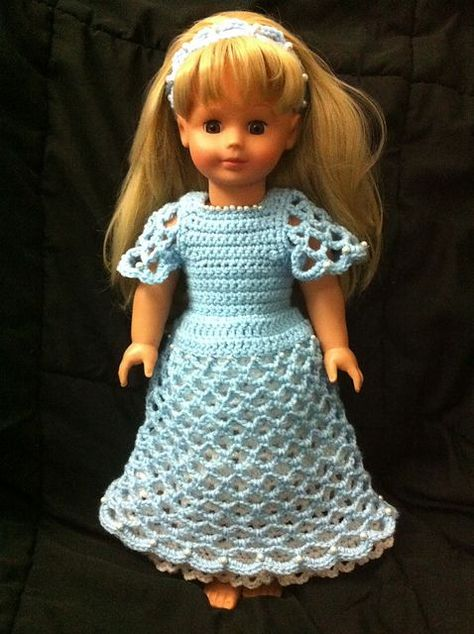 Ravelry: Pearly Dress and Headband for 18 in. Doll pattern by Pro-Bee Crochet