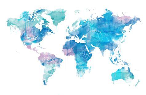 Mapa mundi para Canal de Isabel II Gestión en el Informe Anual de Canal Voluntarios