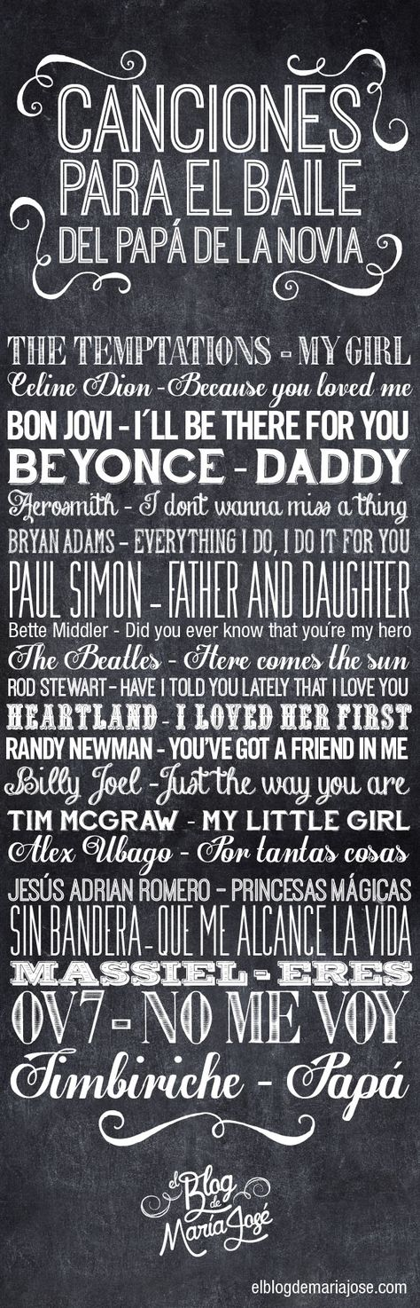 Canciones para el baile del papá de la novia