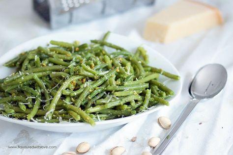 Grüne Bohnen mit Pistazienpesto