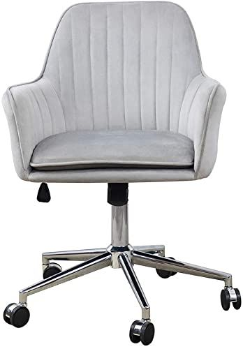 Amazing Offer On Ardico Home Office Chair Middle Back Modern Design Velvet Desk Task Chair Arms Study Bedroom Grey Online Alyssafavour In 2020 Home Office Chairs Grey Home Office Furniture Study Bedroom