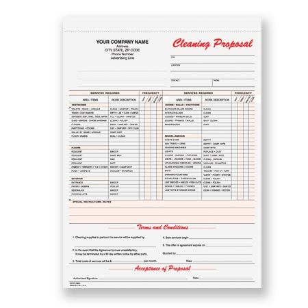 CPCC-796, Janitorial Cleaning Proposal Janitorial Forms - cleaning proposal template