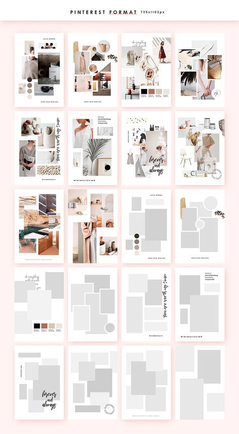 Feminine Mood board Templates by William Hansen on @creativemarket #creativemarket #creative #design #ideas #inspiration #instagram #social #media #socialmedia #marketing #socialmediamarketing #onlinemarketing #mood #board #moodboard