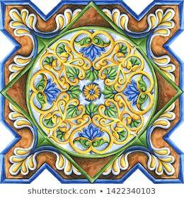 Ceramics T188 Ancient Hand Painted