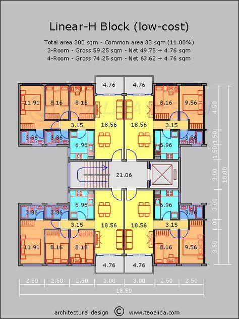 Low Cost Apartments Mimari Modelleri Mimari Planlari Mimari