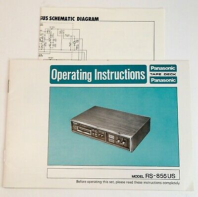 Panasonic Rs 855 Us Operating Instructions Manual Schematic Complete In 2020 Panasonic Instruction Spotify Premium