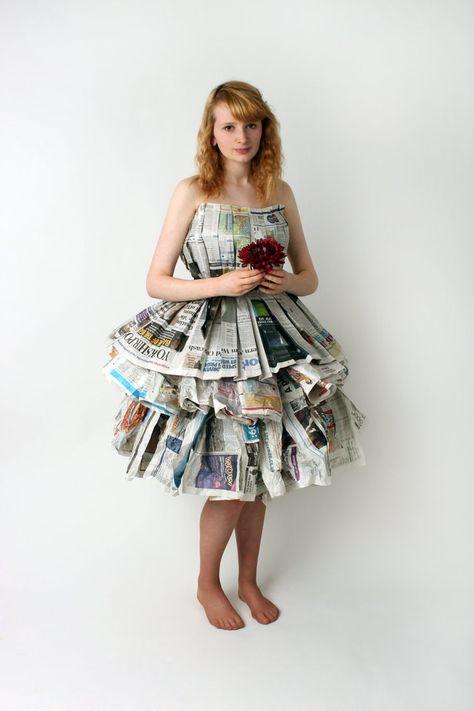 newspaper dress by ~Mahrib on deviantART