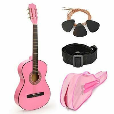 Pink Wood Guitar With Case And Accessories Great Gift For Guitar Guitar For Beginners Guitar Kids