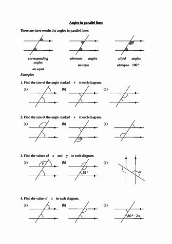 Lines And Angles Worksheet Unique Angles On A Straight Line By Rachdf Chessmuseum Template Library In 2020 Angles Worksheet Solving Linear Equations Linear Equations
