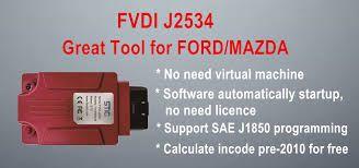 FVDI J2534 Diagnostic Interface Support Ford Mazda Online
