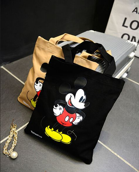 473cb03de Fashion Women Handbag 2017 cartoon Mickey canvas girls casual shoulder bag  Women bag High Quality shopping big bag //Price: $27.64 & FREE Shipping //  # ...