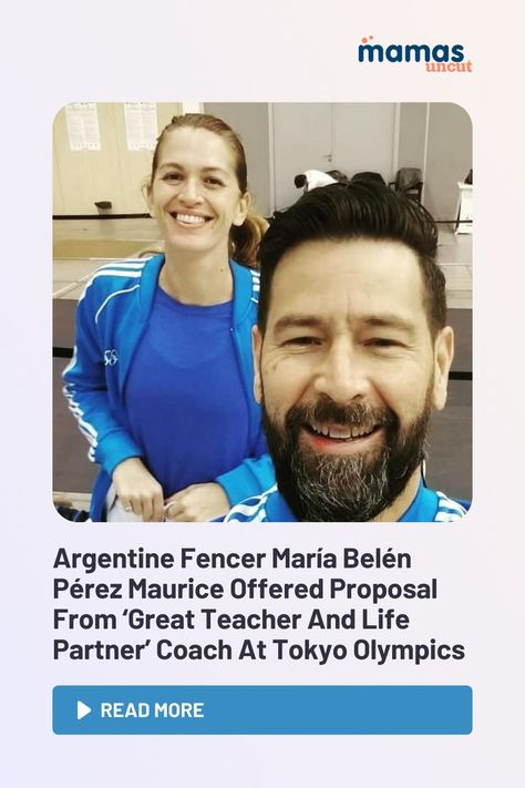 María Belén Pérez Maurice was in the middle of an interview when she turned around to find her coach, Lucas Guillermo Saucedo, asking her to marry him.