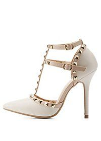 d56cdeff2b65 People also love these ideas. Studded Strappy Pointed Toe Pumps Studded  Pumps