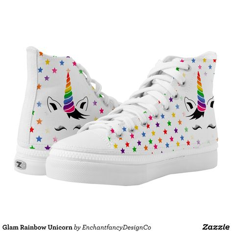 Glam Rainbow Unicorn shoes am i right! Well my glam rainbow unicorn shoes!