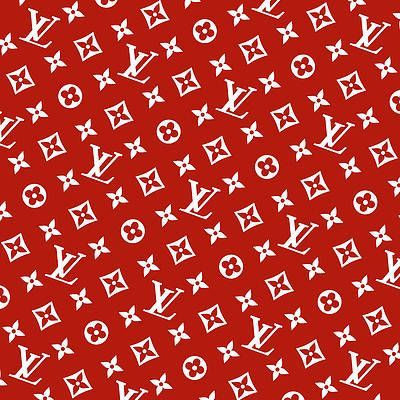 Louis Vuitton Supreme Patron Rojo Blanco Rotado Por Supla Fresh Red And White Wallpaper Red Aesthetic Red Wallpaper