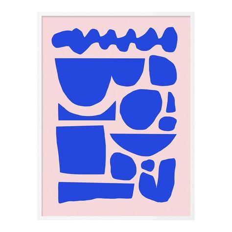 Noon Daydream 2 by Kelly Knaga in White Framed paper, Medium Art Print
