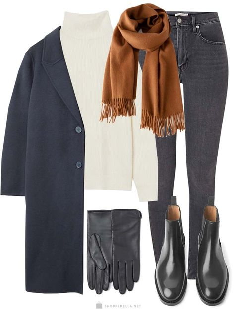 Winter outfit | Winterjas | Sjaal | Coltrui | Jeans | Handschoenen | Winter look | Herfst outfit | AW19 | Chelsea boots | ootd | outfit inspo