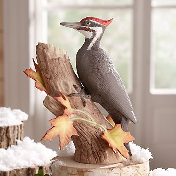 LENOX Figurines: Birds - 2014 Christmas Pileated Woodpecker