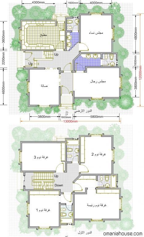 خرائط منازل وديكورات منازل سبلة عمان Model House Plan Architectural House Plans House Floor Design