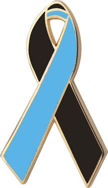 NEW Black /& Red Awareness Ribbon Lapel Pin Badge In Memory Of Murder Victims