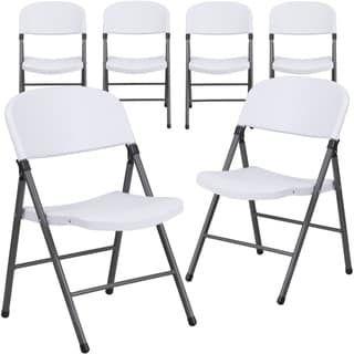 Plastic Folding Chair Granite White Lancaster Home Plastic