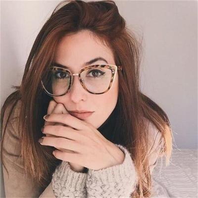 38a5799793e Fashion Spetacles Transparent Frame Women s Glasses Brand Designer Cat s  Eye Glasses Clear Lens Classic Eyeglasses Frames