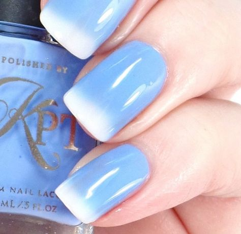 Gorgeous blue polish with a subtle gradient effect (via @loveforlacquer) #POPSUGARSelect