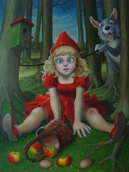 Wonderlijk Frank Warmerdam - Roodkapje en de wolf (With images) | Art, Red FO-75