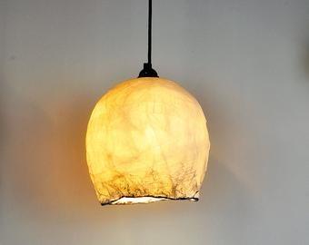 Items Similar To Lamp Ceiling Lamp Pendant Light Hanging Lighting Modern Lighting Paper Lampshade Cylinder Lampshade Hand Made Iluminariumbcn O Decoracao