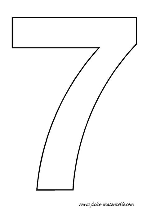 number 7 template  |   Crafts and Worksheets for Preschool,Toddler and Kindergarten