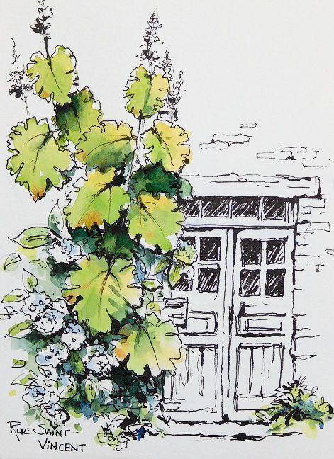 Watercolor Architecture Aquarelle Idees Sketchbook Et Croquis