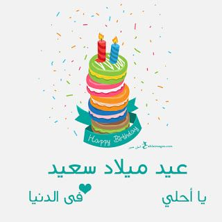 بطاقات عيد ميلاد بالاسماء 2019 تهنئة عيد ميلاد سعيد مع اسمك