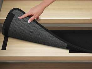 Set Of 12 Attachable Carpet Stair Treads Black Carpet Stairs Carpet Stair Treads Carpet Treads