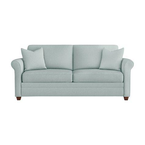 Upholstered Sleeper Sofa Light Blue