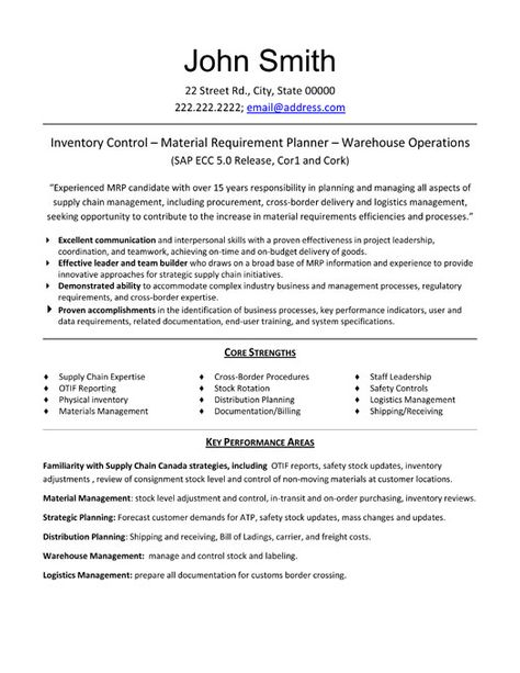 operations resume templates  u0026 samples on pinterest