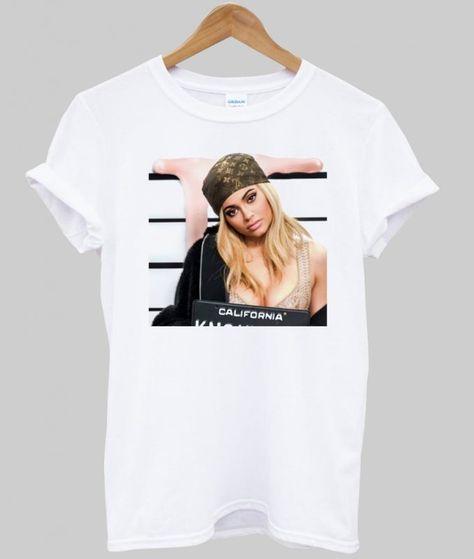 kylie jenner mugshot T Shirt | T shirt, Kylie jenner, Shirts