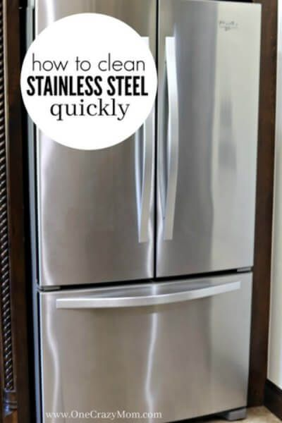 How To Clean Stainless Steel Cleaning Stainless Steel With 2 Ingredients Stainless Steel Cleaning Cleaning Hacks Cleaning