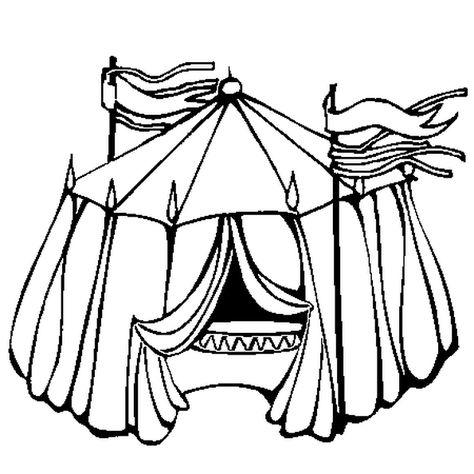 Le Dessin Nous Montre Le Chapiteau D Un Cirque Colorie Le